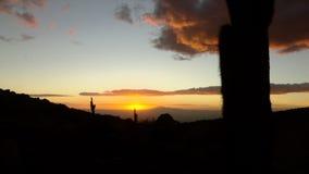 Krajobraz blisko San Pedro Di Atacama podczas zmierzchu zbiory