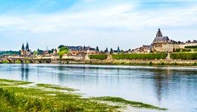 Krajobraz Blois linia horyzontu, Francja fotografia stock