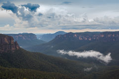 Krajobraz brać w Błękitnych górach Australia Zdjęcia Stock