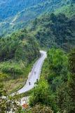 Krajobraz brzęczenia Giang górzysty region w Wietnam Brzęczenia Giang Gdy brzęczenia Giang są górzystym regionem populacja no jes Zdjęcia Stock