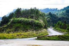 Krajobraz brzęczenia Giang górzysty region w Wietnam Brzęczenia Giang Gdy brzęczenia Giang są górzystym regionem populacja no jes Obraz Royalty Free