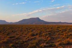 Krajobraz Camdeboo park narodowy podczas zmierzchu w południe A Obrazy Stock