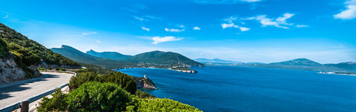 Krajobraz capo caccia w Sardinia obrazy stock