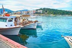 Krajobraz Chalcis Euboea Grecja Fotografia Royalty Free