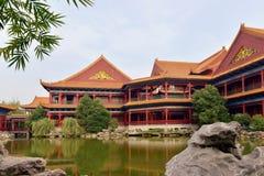 Krajobraz Chiński antyczny ogród Obrazy Royalty Free