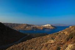 Krajobraz Chora w Astypalaia wyspie obrazy stock