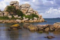 Krajobraz Cote De Granit Wzrastający w Bretagne, Francja zdjęcie stock