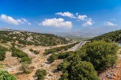Krajobraz Crete wyspa przy Lasithi okręgiem zdjęcie stock
