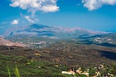 Krajobraz Crete wyspa przy zachodnią częścią wyspa obraz stock