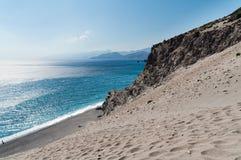 Krajobraz Crete wyspa z piękną laguną i zielonymi górami zdjęcie stock