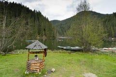 Krajobraz Czerwony jeziorny Rumunia Obraz Royalty Free
