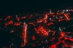 Krajobraz czerwony miasto zdjęcie royalty free