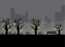 Krajobraz dla gry Tło dla gry Bezszwowy kreskówka krajobraz bez końca tło Obraz Stock