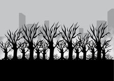 Krajobraz dla gry Tło dla gry Bezszwowy kreskówka krajobraz bez końca tło Obraz Royalty Free