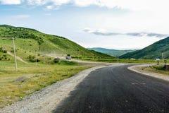 Krajobraz, droga w górze Fotografia Stock