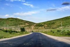 Krajobraz, droga w górze Obrazy Royalty Free