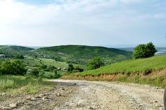 Krajobraz, droga w górze, Siazan teren, Azerbejdżan Obraz Stock