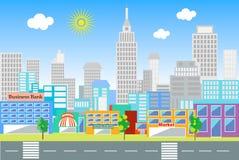 Krajobraz duży miasto Obraz Stock