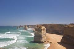 Krajobraz Dwanaście apostołów wzdłuż Wielkiej ocean drogi zdjęcie stock
