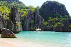 Krajobraz El Nido Palawan wyspa Filipiny Obraz Stock