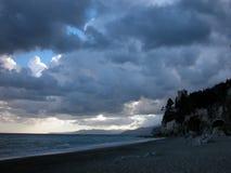 Krajobraz finał Ligure obraz royalty free