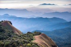 Krajobraz góra Monjong w Chiang Mai Fotografia Stock