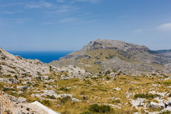 Krajobraz góra w Mallorca Zdjęcie Royalty Free