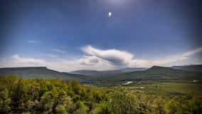 Krajobraz góry i pole Zdjęcie Stock