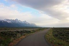 Krajobraz góry w Wyoming obrazy royalty free