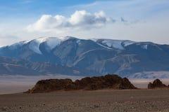 Krajobraz góry w Zachodnim Mongolia i step Podróż Zdjęcie Stock