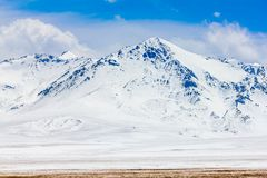 Krajobraz g?ra na Qinghai plateau, Chiny fotografia royalty free