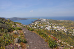 Krajobraz grecka wyspa Santorini Obrazy Royalty Free