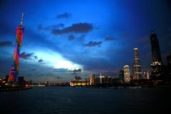 Krajobraz Guangzhou wierza Zdjęcie Stock