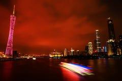 Krajobraz Guangzhou wierza Zdjęcia Stock