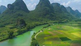 Krajobraz Guilin Li rzeka Obraz Stock
