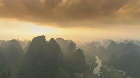 Krajobraz Guilin Li rzeka Fotografia Royalty Free