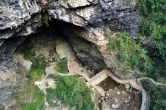 Krajobraz halna jama Zdjęcia Royalty Free