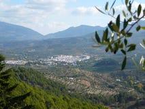 Krajobraz i wioska Zdjęcie Stock