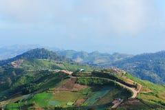 Krajobraz i wioska widok Fotografia Royalty Free