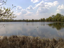 Krajobraz i woda Zdjęcia Stock