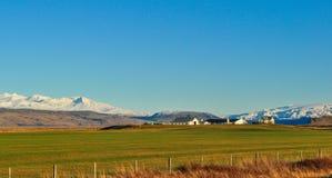 Krajobraz Iceland gospodarstwo rolne obrazy stock