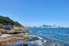 Krajobraz Igidae wybrzeże zdjęcie stock