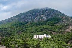 Krajobraz ikonowy moutain hotel zdjęcia royalty free