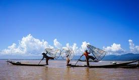 Krajobraz Inle jezioro, Myanmar Obraz Stock
