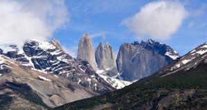 Krajobraz jeziora i góry w Torre Del Paine fotografia royalty free