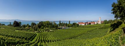 Krajobraz Jeziorny Bodensee w Niemcy lub Constance zdjęcie royalty free
