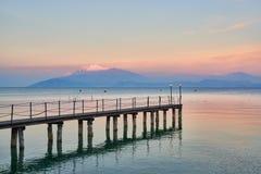 Krajobraz Jeziorny Garda obrazy stock