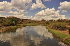 Krajobraz jezioro w Madagascar Zdjęcia Stock