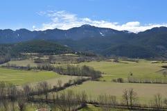 Krajobraz Katalońscy Pyrenees, Cerdanya, Girona, Hiszpania Zdjęcia Stock