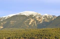 Krajobraz Katalońscy Pyrenees, Cerdanya, Girona, Hiszpania Obraz Royalty Free